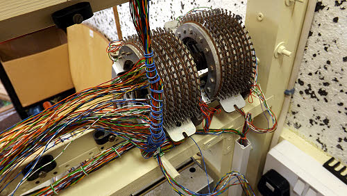 The linefinder multiple wiring laced out ready to terminate