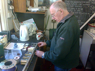 Martin learning to plate wire