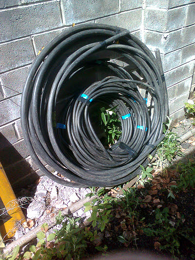 Surplus power cable