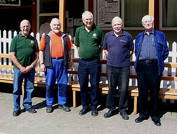 Martin Lunn, Rick Gillingham, John Bathgate, Tony Macey, Ray Willey - The Wednesday Team