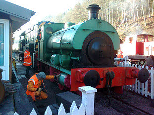 Our original engine, a Saddle Tank still waiting to be restored