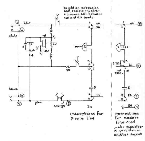 300 type telephone circuit diagram