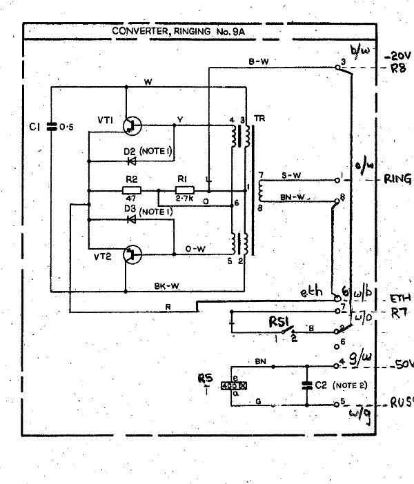 Ringing converter 9a
